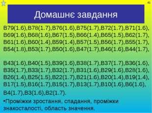Домашнє завдання В79(1.6),В78(1.7),В76(1.6),В75(1.7),В72(1.7),В71(1.6), В69(1