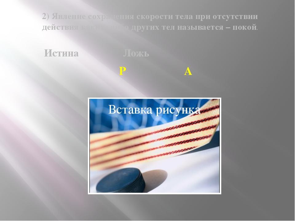 2) Явление сохранения скорости тела при отсутствии действия каких- либо други...