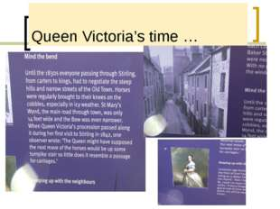 Queen Victoria's time …