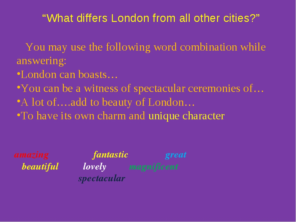 """""""What differs London from all other cities?"""" amazing fantastic great beautif..."""