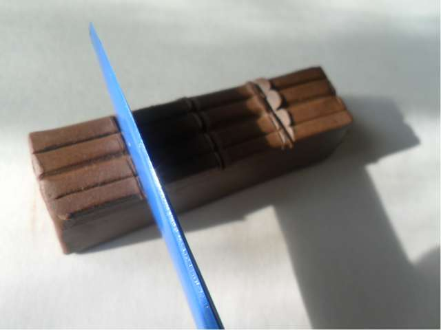 4.Разделите брусок на несколько частей.