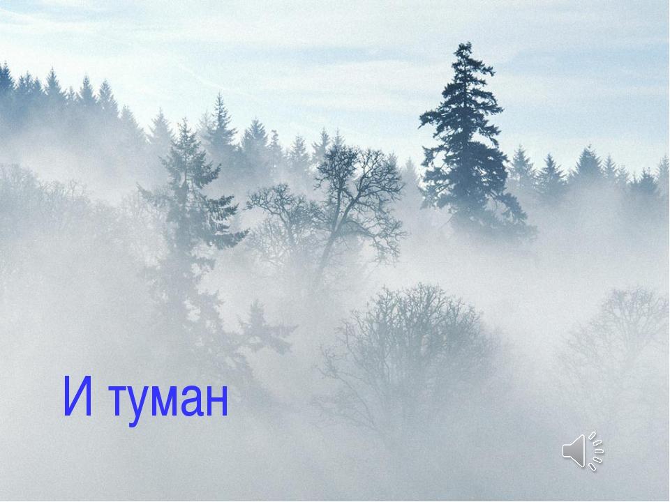 ТУМАН И туман