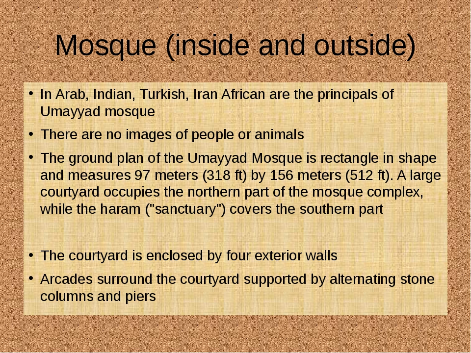 Mosque (inside and outside) In Arab, Indian, Turkish, Iran African are the pr...