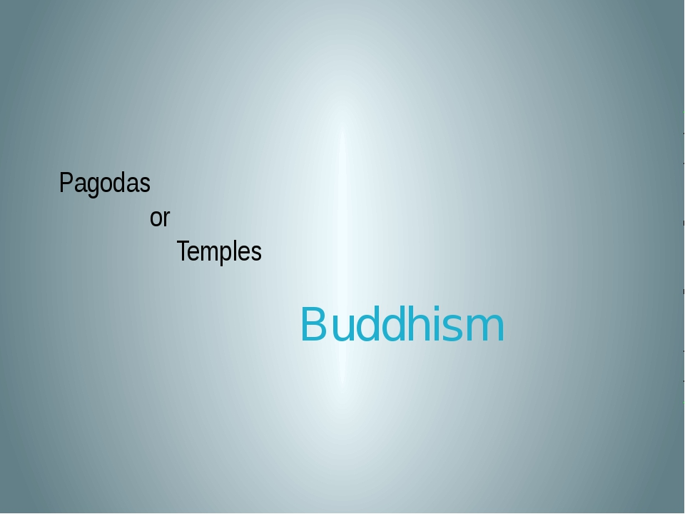 Pagodas or Temples Buddhism