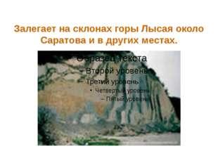 Много этого камня у Саратова, в горах у Вольска и в крутых берегах Волги ниже