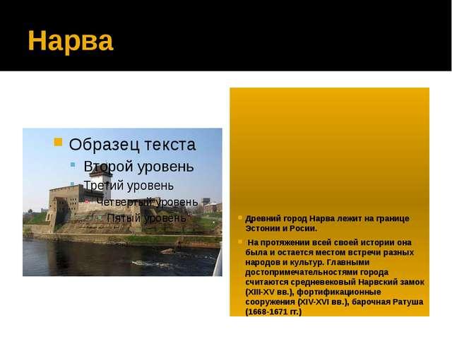 Нарва Древний город Нарва лежит на границе Эстонии и Росии. На протяжении все...