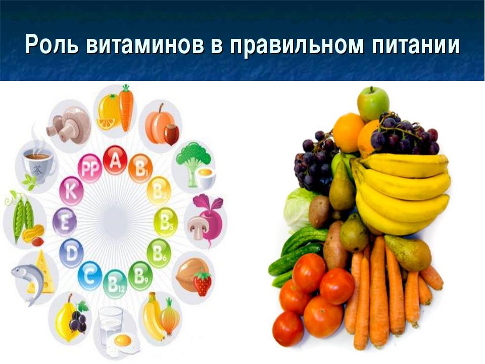 Роль витаминов в правильном питании