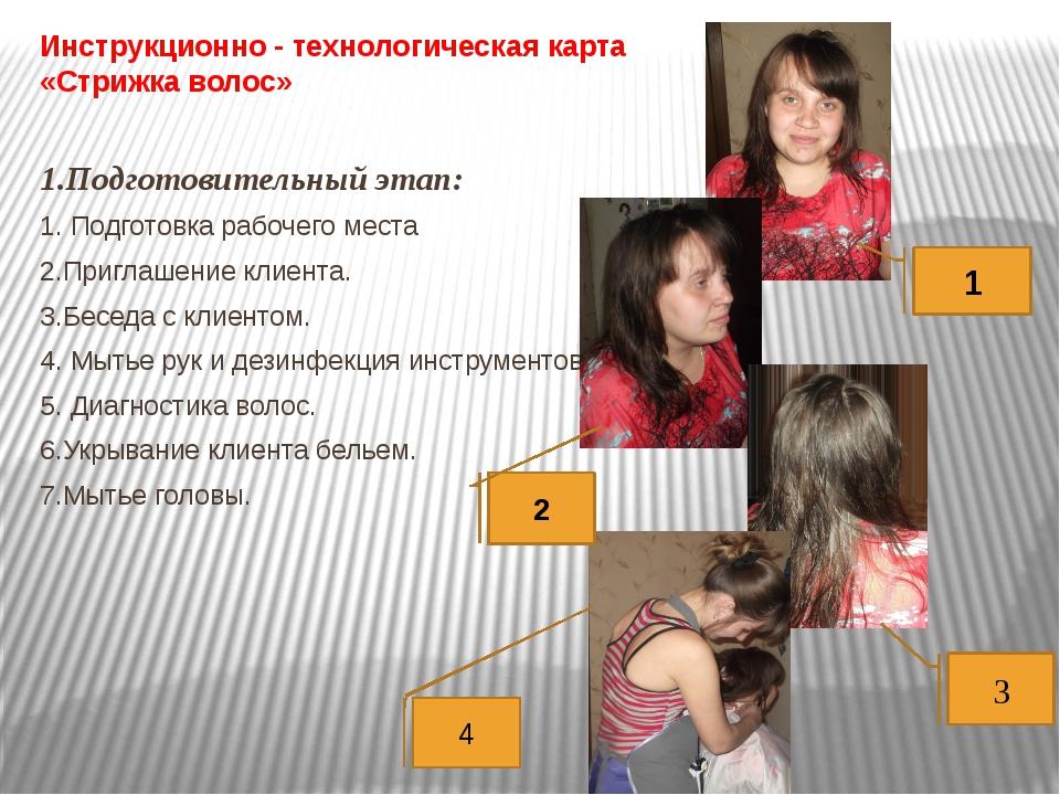 Инструкционно - технологическая карта «Стрижка волос»  1.Подготовительный эт...