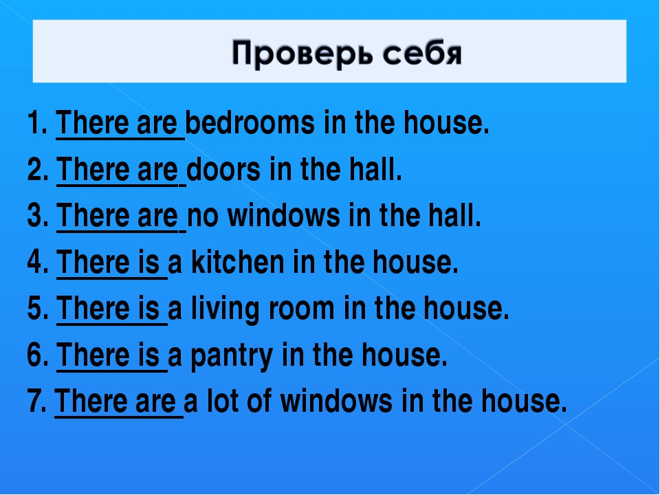 1. There are bedrooms in the house. 2. There are doors in the hall. 3. There...