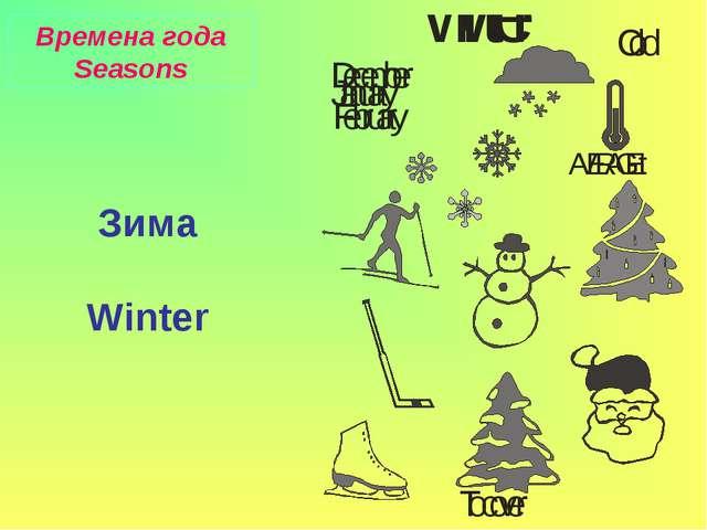 Времена года Seasons Зима Winter