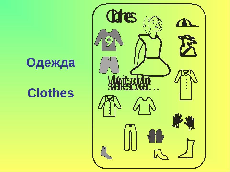 Одежда Clothes