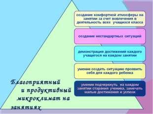 Благоприятный и продуктивный микроклимат на занятиях