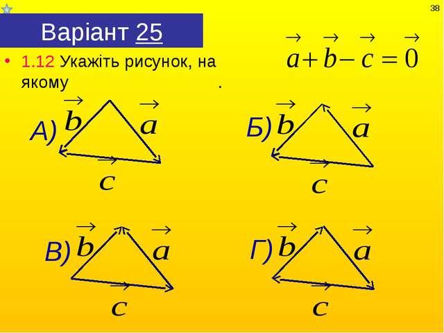 Варіант 25 1.12 Укажіть рисунок, на якому . *