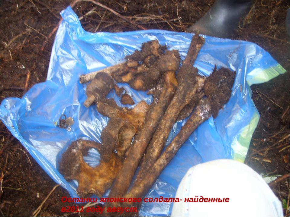 Останки японского солдата- найденные в2011 году август.