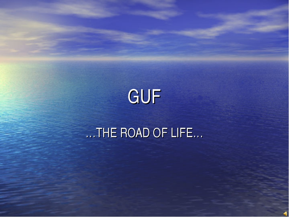 GUF …THE ROAD OF LIFE…