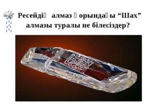 """Ресейдің алмаз қорындағы """"Шах"""" алмазы туралы не білесіздер? Жауабы: 90 карат"""