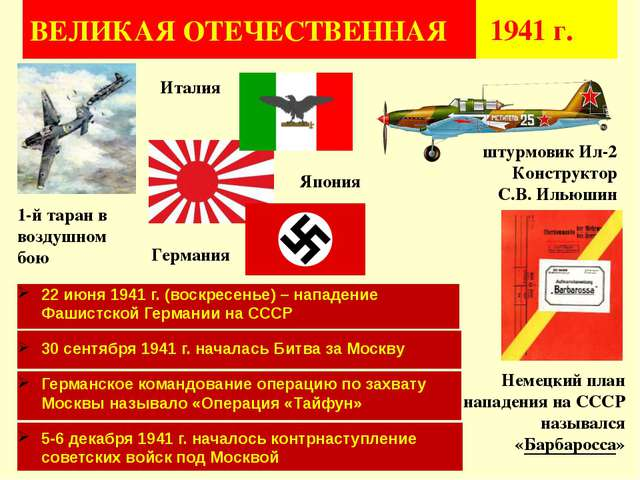 ВЕЛИКАЯ ОТЕЧЕСТВЕННАЯ 1941 г. 1-й таран в воздушном бою 22 июня 1941 г. (вос...