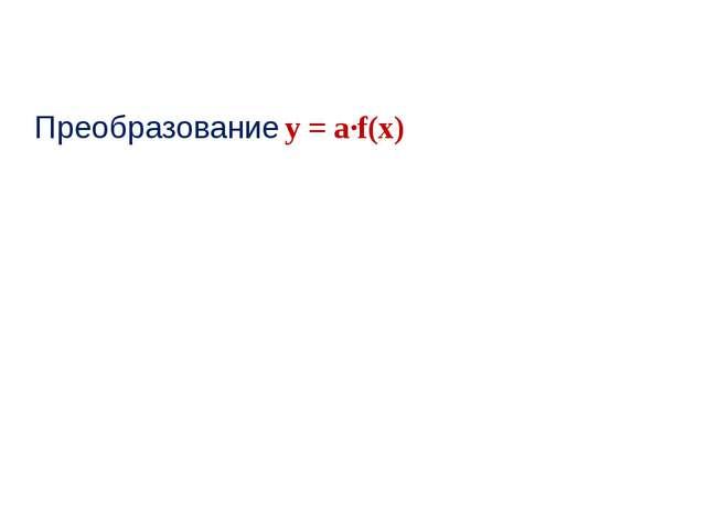 Преобразование у = а∙f(x)