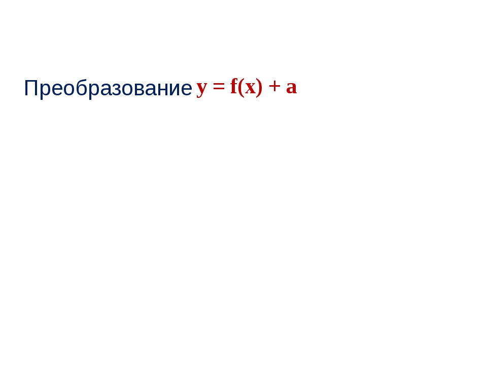 Преобразование у = f(x) + a