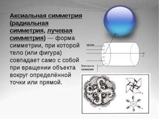 Аксиальная симметрия (радиальная симметрия, лучевая симметрия)— форма симмет