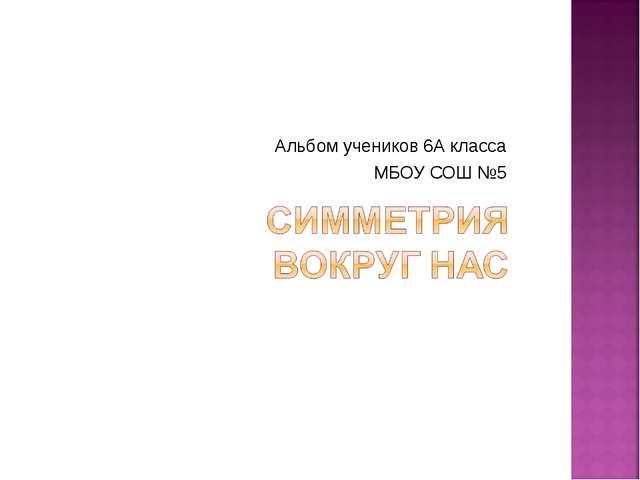 Альбом учеников 6А класса МБОУ СОШ №5