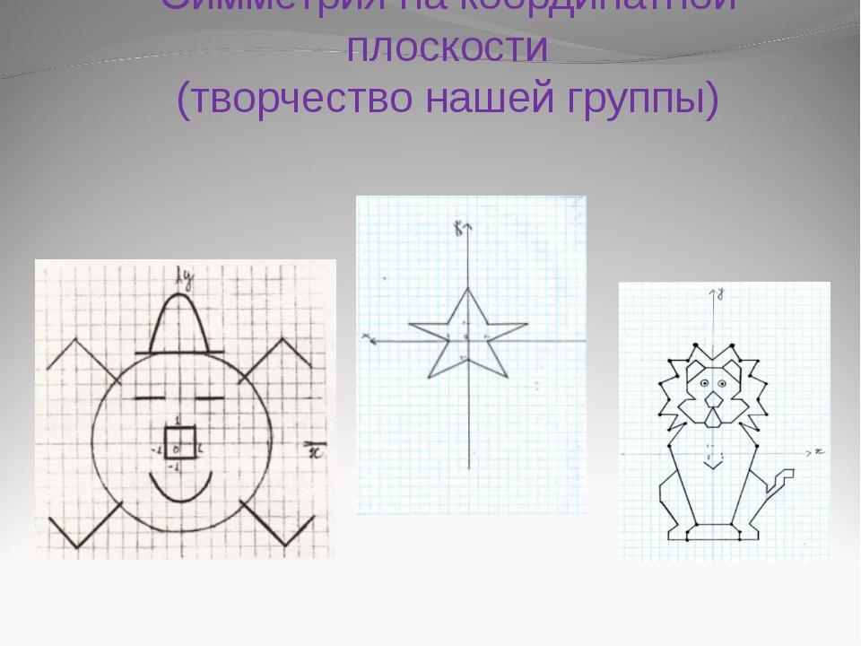 Симметрия на координатной плоскости (творчество нашей группы)