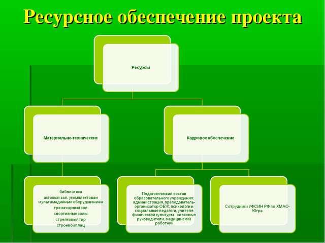 Ресурсное обеспечение проекта