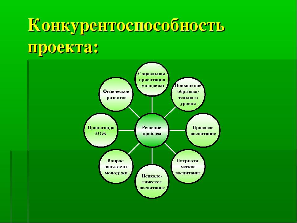 Конкурентоспособность проекта:
