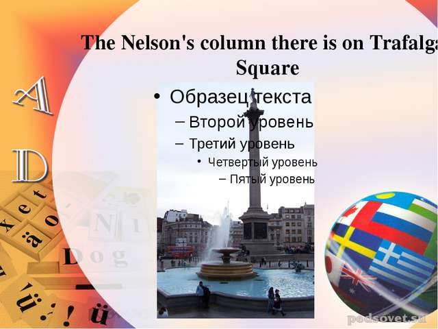 The Nelson's column there is on Trafalgar Square