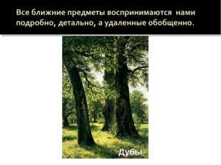 Лесные дали   Дубы