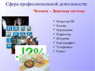 Оператор ПК Кассир Переводчик Корректор Штурман Картографист Телефонист Радис