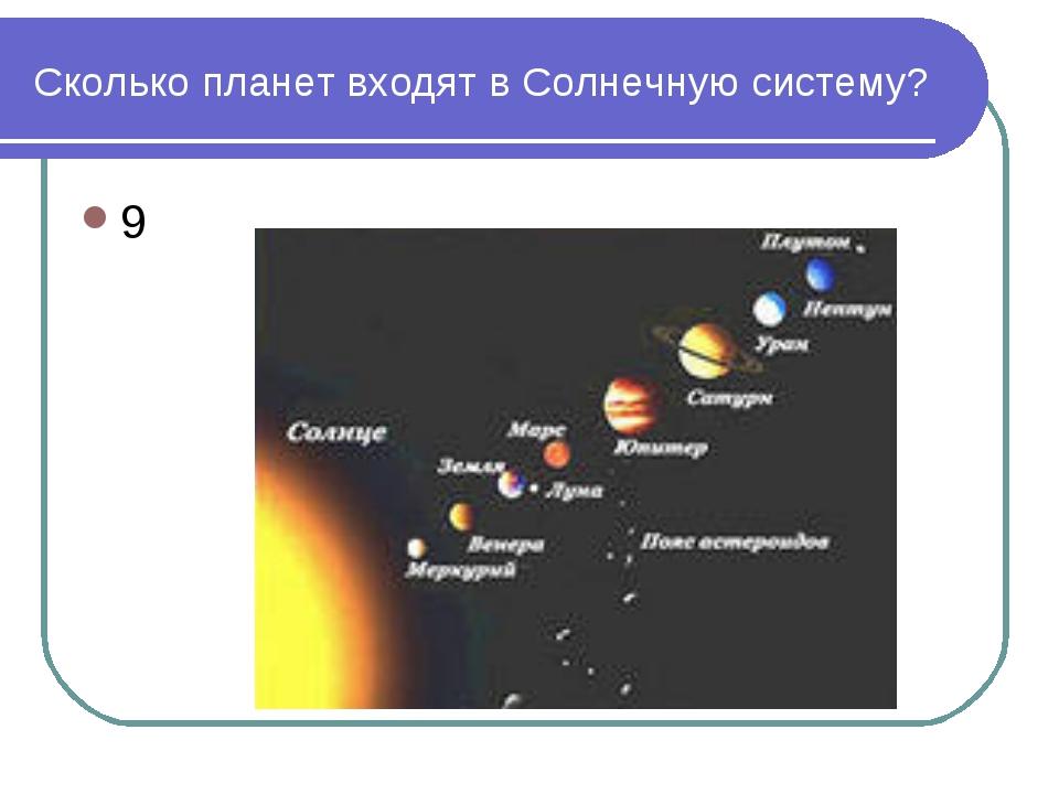 Сколько планет входят в Солнечную систему? 9