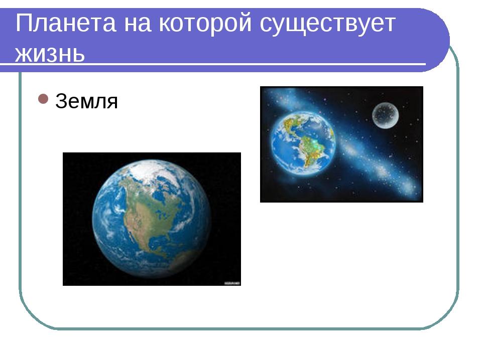 Планета на которой существует жизнь Земля