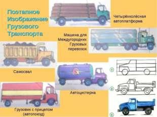 Поэтапное Изображение Грузового Транспорта Четырёхколёсная автоплатформа Маши