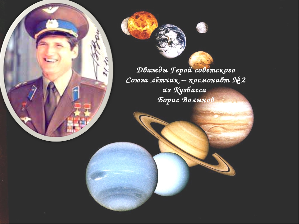 Дважды Герой советского Союза лётчик – космонавт № 2 из Кузбасса Борис Волынов