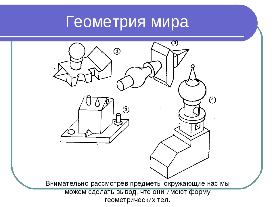 Геометрия мира Внимательно рассмотрев предметы окружающие нас мы можем сделат...
