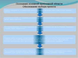 Осознание основной проблемной области Обоснование выбора проекта Главное в эт