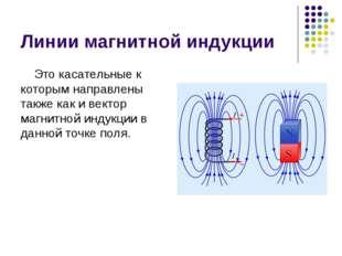 Линии магнитной индукции Это касательные к которым направлены также как и век