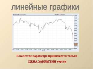 В качестве параметра принимается только ЦЕНА ЗАКРЫТИЯ торгов