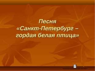 Песня «Санкт-Петербург – гордая белая птица»