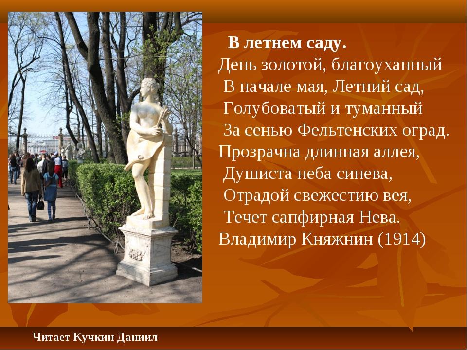 В летнем саду. День золотой, благоуханный В начале мая, Летний сад, Голубова...