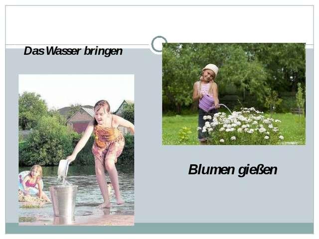 Das Wasser bringen Blumen gießen