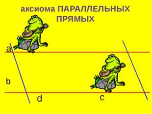 аксиома ПАРАЛЛЕЛЬНЫХ ПРЯМЫХ a b c d