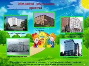 Механизм реализации проекта Сотрудничество в реализации проекта с государств