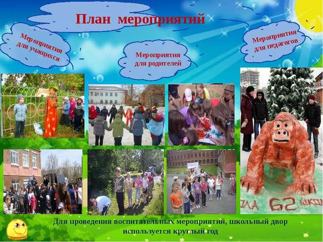 План мероприятий Мероприятия для родителей Мероприятия для учащихся Мероприят...