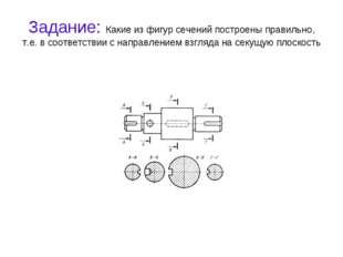 Задание: Какие из фигур сечений построены правильно, т.е. в соответствии с на