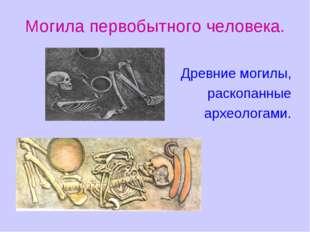 Могила первобытного человека. Древние могилы, раскопанные археологами.