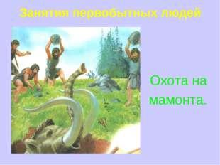 Занятия первобытных людей Охота на мамонта.