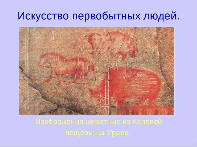 Искусство первобытных людей. Изображения животных из Каповой пещеры на Урале.