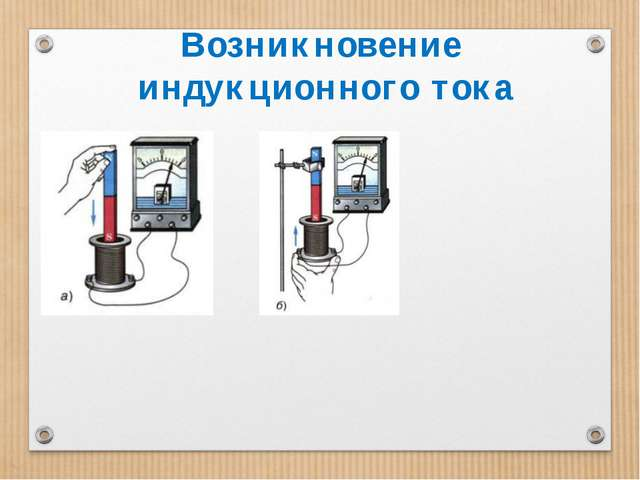 Возникновение индукционного тока